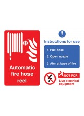 Automatic Fire Hose Reel with Instructions for Use