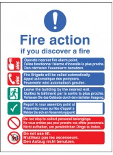 Multi-lingual Fire Action Auto with Lift