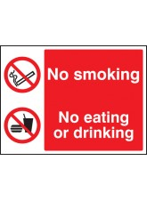 No Smoking - No Eating - No Drinking