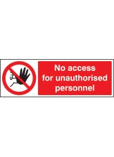 No Access for Unauthorised Personnel