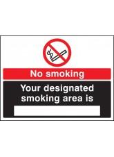 No Smoking Designated Smoking Area Is (White / Black)