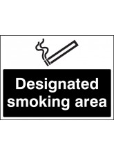 Designated Smoking Area (White / Black)