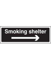 Smoking Shelter Right Arrow (White / Black)
