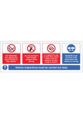 Vehicle Sticker - No smoking - Mobile phone - Drink / Drugs - Wear Seatbelt