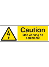 Caution Men Working On Equipment