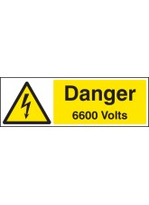 Danger 6600 Volts