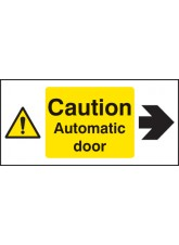 Caution Automatic Door Right