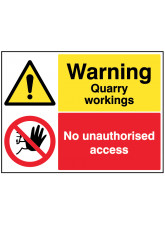 Warning Quarry Workings - Keep Out
