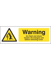 Warning Arc Flash and Shock Hazard De-energize unit Before Removing Cover