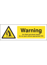 Warning Arc flash and shock hazard Do not open without appropriate PPE