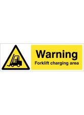Warning - Forklift Charging Area