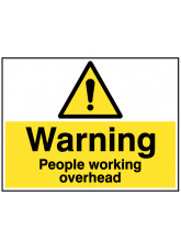 Warning People Working Overhead