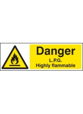 Danger LPG Highly Flammable