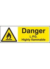 Danger LPG Highly Flammable