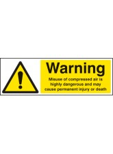 Caution Misuse of Compressed Air Is Highly Dangerous