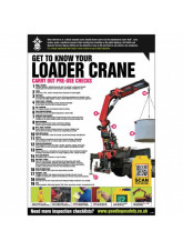 Loader Crane Inspection Checklist Poster (A2)