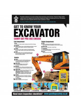 GTG Excavator Inspection poster 420x594mm synthetic paper