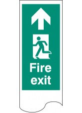 Door Plate - Fire Exit Left