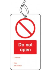 10 x Do Not Open - Double Sided Tags