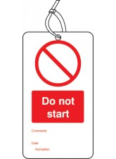 10 x Do Not Start Off - Double Sided Tags