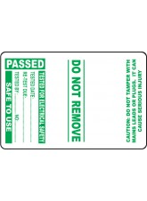 Roll of 100 PAT Test Cable Wrap Labels - Passed - 75 x 50mm
