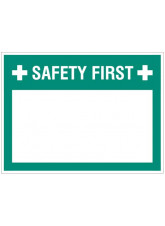 "Small Wipe Clean Board ""Safety First (Write your Message)"""