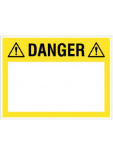 "Large Wipe Clean Board ""Danger (Write your Message)"""