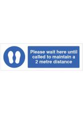 Coronavirus Floor Graphic - Please wait here until called