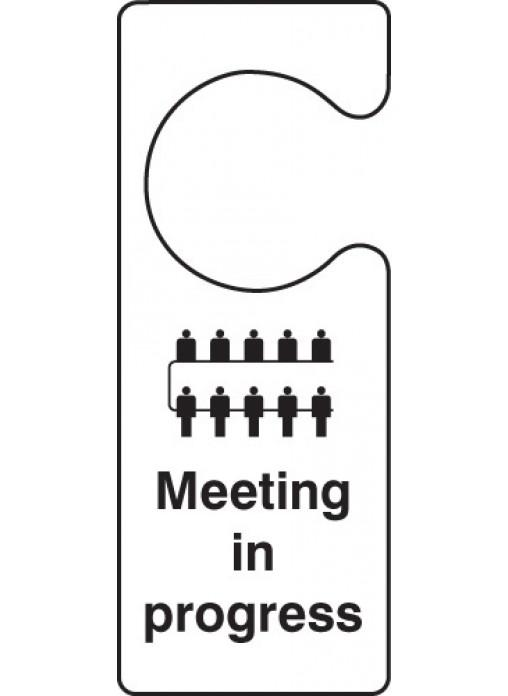 meeting in progress signs for doors