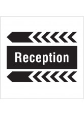 Reception - Arrow Left - Site Saver Sign - 400 x 400mm