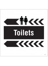 Toilets - Arrow Left - Site Saver Sign - 400 x 400mm