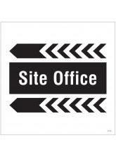 Site Office - Arrow Left - Site Saver Sign - 400 x 400mm