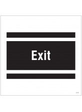 Exit - Site Saver Sign - 400 x 400mm