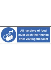 Handlers of Food Must Wash Hands After Toilet