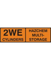 2WE Multi Cylinder Storage Placard Aluminium