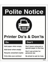 Printer - Do's & Don'ts