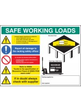 SWL Mezzanine Floor Sign - 5mm Foamex - 600 x 450mm