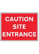 Re-Flex Sign - Caution Site Entrance