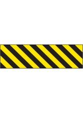 Hazard Marker (Right Hand) - Reflective Aluminium - 600 x 150mm