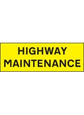 Highway Maintenance - Reflective Self Adhesive Vinyl - 800 x 275mm