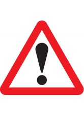 Warning ! with Text Variant - 600mm Triangle Sign