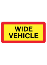 Wide Vehicle Panel 525 x 250mm Reflective Aluminium