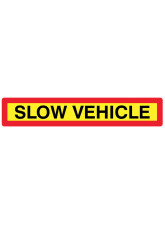 Slow Vehicle Panel 1265 x 225mm Reflective Aluminium