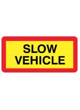 Slow Vehicle Panel 525 x 250mm Reflective Aluminium