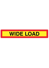 Wide Load Panel 1265 x 225mm Reflective Aluminium