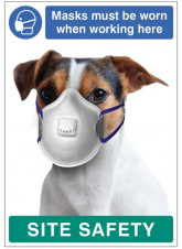 Masks must be Worn when Working Here - Dog Poster