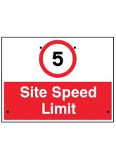 Re-Flex Sign - 5mph Site speed limit