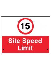 Re-Flex Sign - 15mph Site speed limit