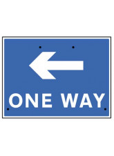 Re-Flex Sign - One way arrow left