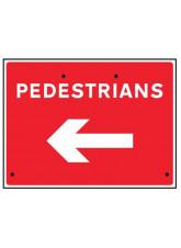 Re-Flex Sign - Pedestrians Arrow Left